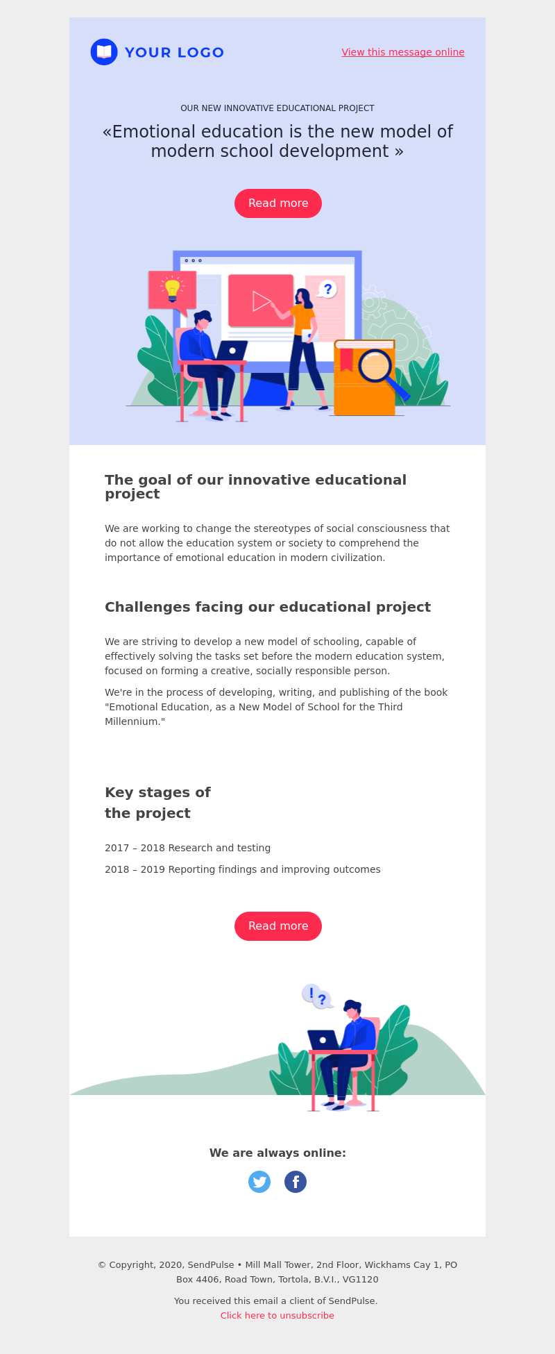 Education free email template