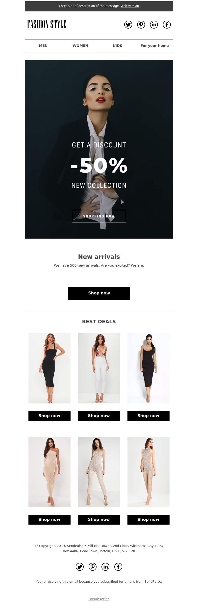 Ecommerce free email template